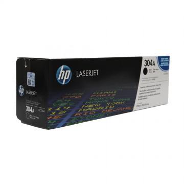 CC530A HP 304A оригинальный лазерный картридж HP чёрный, ресурс - 3500 страниц