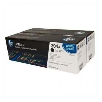 HP 304A D Black | CC530AD оригинальный лазерный картридж - черный, 2 x 3500 стр