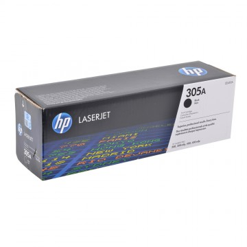 CE410A HP 305A оригинальный лазерный картридж HP чёрный, ресурс - 2200 страниц