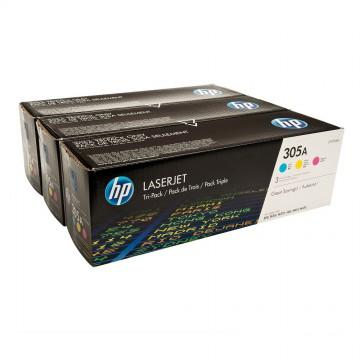 CF370AM HP 305A оригинальный набор лазерных картриджей HP, ресурс - 3 * 2600 страниц