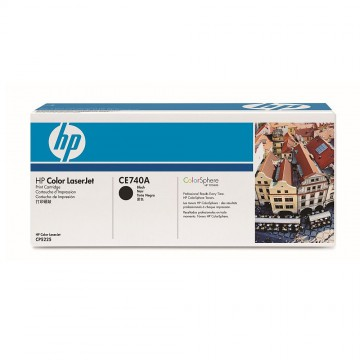 CE740A HP 307A оригинальный лазерный картридж HP чёрный, ресурс - 7000 страниц