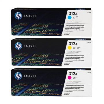 HP 312A Color Multipack | CF440AM оригинальный лазерный картридж - набор цветной, 3 x 2700 стр