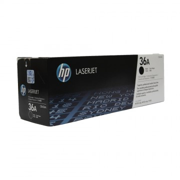 CB436A HP 36A оригинальный лазерный картридж HP чёрный, ресурс - 2000 страниц