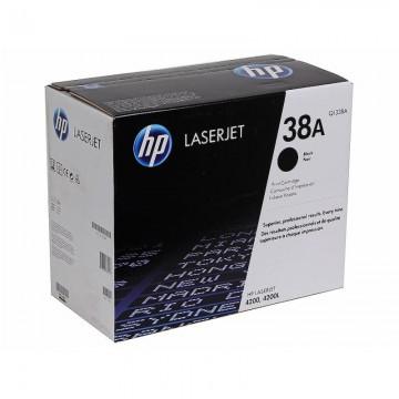 Q1338A HP 38A оригинальный лазерный картридж HP чёрный, ресурс - 12000 страниц