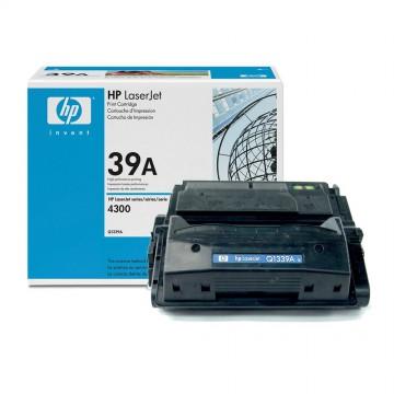 Q1339A HP 39A оригинальный лазерный картридж HP чёрный, ресурс - 18000 страниц