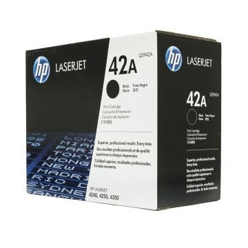 Q5942A HP 42A оригинальный лазерный картридж HP чёрный, ресурс - 10000 страниц