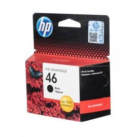 CZ637AE HP 46 Black оригинальный струйный картридж HP чёрный, ресурс - 1500 страниц