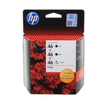 HP 46 Black X2 + Color | F6T40AE оригинальный струйный картридж - черный + цветной, 2 x 1500 + 750 стр