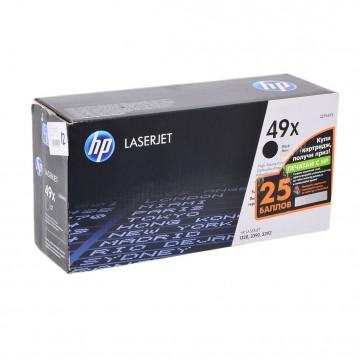 Q5949X HP 49X оригинальный лазерный картридж HP чёрный, ресурс - 6000 страниц