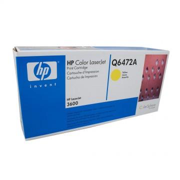 Q6472A HP 502A оригинальный лазерный картридж HP жёлтый, ресурс - 4000 страниц