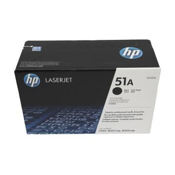 Q7551A HP 51A оригинальный лазерный картридж HP чёрный, ресурс - 6500 страниц