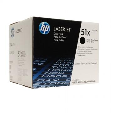 Q7551XD HP 51XD оригинальный лазерный картридж HP чёрный, ресурс - 2 * 13000 страниц