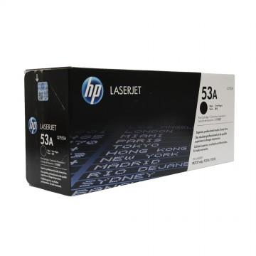 Q7553A HP 53A оригинальный лазерный картридж HP чёрный, ресурс - 3000 страниц