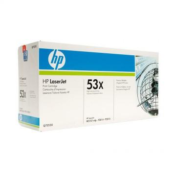 Q7553X HP 53X оригинальный лазерный картридж HP чёрный, ресурс - 7000 страниц