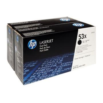 Q7553XD HP 53XD оригинальный лазерный картридж HP чёрный, ресурс - 2 * 7000 страниц