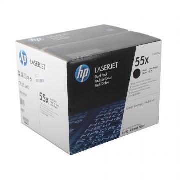 CE255XD HP 55XD оригинальный лазерный картридж HP чёрный, ресурс - 2 * 12000 страниц