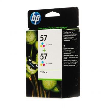 C9503AE HP 57 + 57 оригинальный струйный картридж HP цветной, ресурс - 2 * 400 страниц