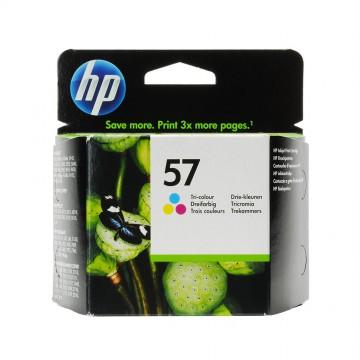 C6657AE HP 57 оригинальный струйный картридж HP цветной, ресурс - 400 страниц