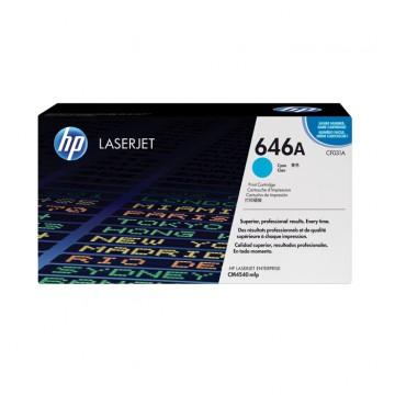 CF031A HP 646A оригинальный лазерный картридж HP голубой, ресурс - 12500 страниц