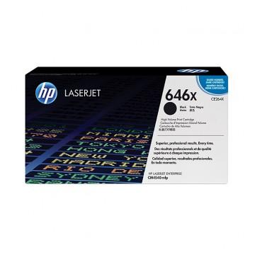HP 646X Black | CE264X оригинальный лазерный картридж - черный, 17000 стр