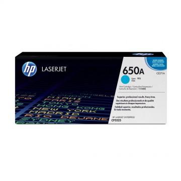 CE271A HP 650A оригинальный лазерный картридж HP голубой, ресурс - 15000 страниц