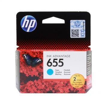CZ110AE HP 655 Cyan оригинальный струйный картридж HP голубой, ресурс - 600 страниц