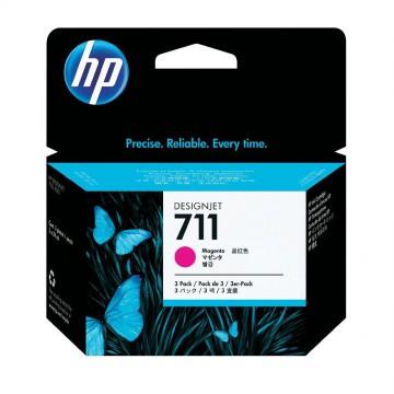 HP 711 Magenta | CZ135A оригинальный струйный картридж - пурпурный, 3 x 29 мл