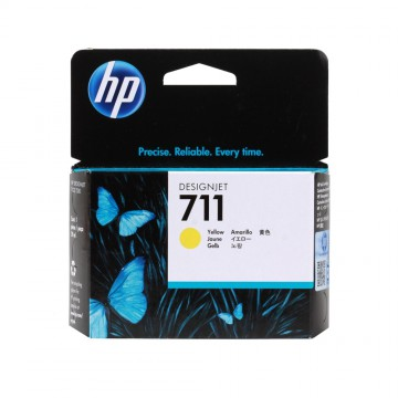 HP 711 Yellow | CZ132A оригинальный струйный картридж - желтый, 29 мл