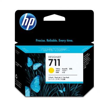 HP 711 Yellow | CZ136A оригинальный струйный картридж - желтый, 3 x 29 мл