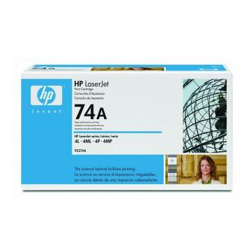 92274A HP 74A оригинальный лазерный картридж HP чёрный, ресурс - 3000 страниц