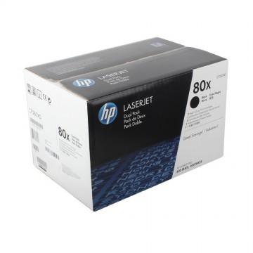 CF280XD HP 80XD оригинальный лазерный картридж HP чёрный, ресурс - 2 * 6800 страниц