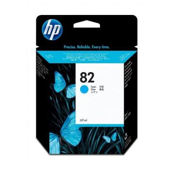 C4911AE HP 82 Cyan оригинальный струйный картридж HP голубой, ресурс - 1750 страниц