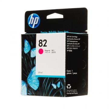 C4912AE HP 82 Magenta оригинальный струйный картридж HP малиновый, ресурс - 1750 страниц