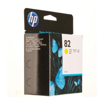 C4913AE HP 82 Yellow оригинальный струйный картридж HP жёлтый, ресурс - 1750 страниц
