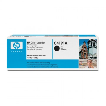C4191A HP C4191A оригинальный лазерный картридж HP чёрный, ресурс - 9000 страниц