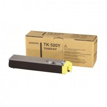 Kyocera TK-520Y | 1T02HJAEU0 оригинальный тонер картридж - желтый, 4000 стр