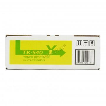 Kyocera TK-540Y | 1T02HLAEU0 оригинальный тонер картридж - желтый , 4000 стр