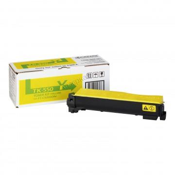 Kyocera TK-550Y | 1T02HMAEU0 оригинальный тонер картридж - желтый , 6000 стр