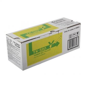 Kyocera TK-580Y | 1T02KTANL0 оригинальный тонер картридж - желтый , 2800 стр