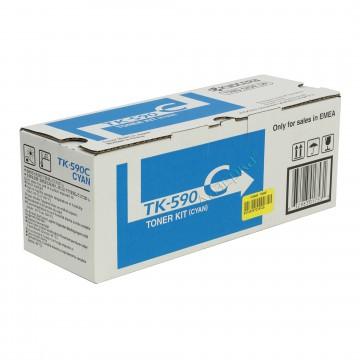 Kyocera TK-590C | 1T02KVCNL0 оригинальный тонер картридж - голубой, 5000 стр