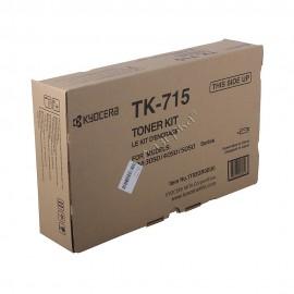 TK-715 оригинальный лазерный тонер картридж Kyocera черный, ресурс - 34000 страниц