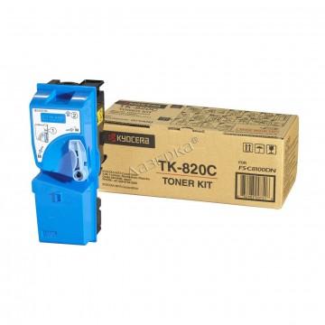 Kyocera TK-820C | 1T02HPCEU0 оригинальный тонер картридж - голубой, 7000 стр