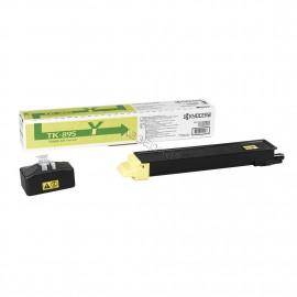 TK-895Y оригинальный лазерный тонер картридж Kyocera желтый, ресурс - 6000 страниц