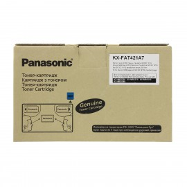 KX FAT421A7 оригинальный лазерный тонер картридж Panasonic черный, ресурс - 2000 страниц