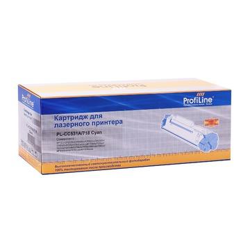 ProfiLine PL_CC531A/718_C совместимый лазерный картридж 304A / 718 Cyan | CC531A - голубой, 2800 стр