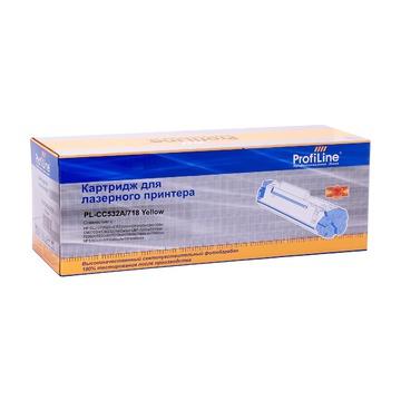 ProfiLine PL_CC532A/718_Y совместимый лазерный картридж 304A / 718 Yellow | CC532A - желтый, 2800 стр