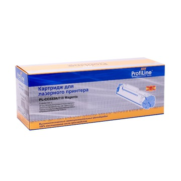 ProfiLine PL_CC533A/718_M совместимый лазерный картридж 304A / 718 Magenta | CC533A - пурпурный, 2800 стр