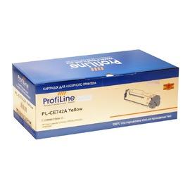 Profiline PL-CE742A совместимый картридж, аналог HP CE742A желтый 7300 страниц