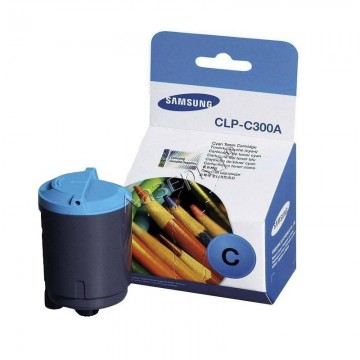 CLP-C300A оригинальный лазерный картридж Samsung, ресурс - 1000 страниц, голубой