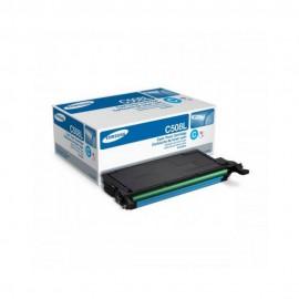 Samsung CLT-C508L Оригинальный лазерный картридж, ресурс - 4000 стр., голубой